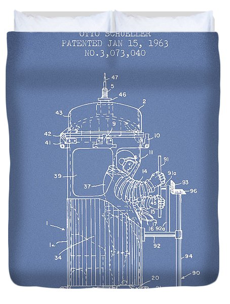 Space Capsule Patent From 1963 Duvet Cover