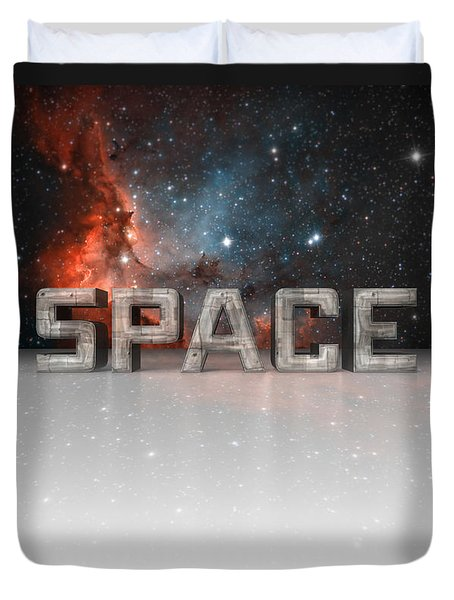 Space Duvet Cover by Phil Perkins