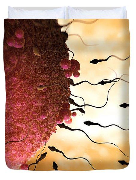 Sperm And Ovum Duvet Cover