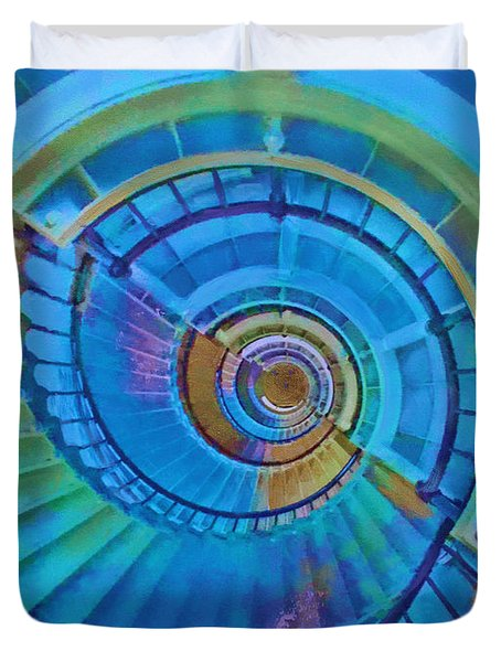 Stairway To Lighthouse Heaven Duvet Cover