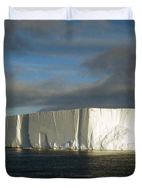 Tabular Iceberg Antarctica Duvet Cover by Carole-Anne Fooks