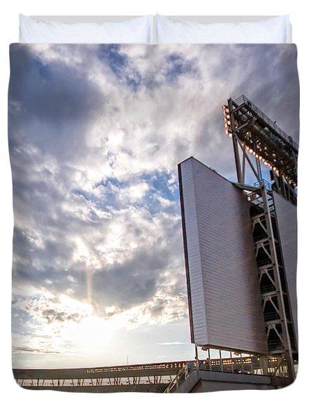 Target Field Sunset Duvet Cover