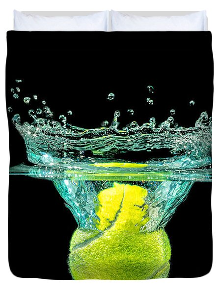Tennis Ball Duvet Cover by Peter Lakomy