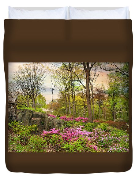 The Azalea Garden Duvet Cover