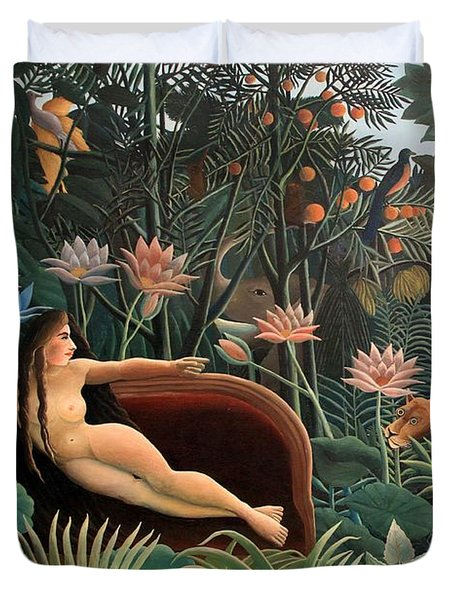The Dream Duvet Cover by Henri Rousseau