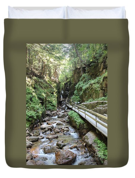 The Flume Gorge   Duvet Cover