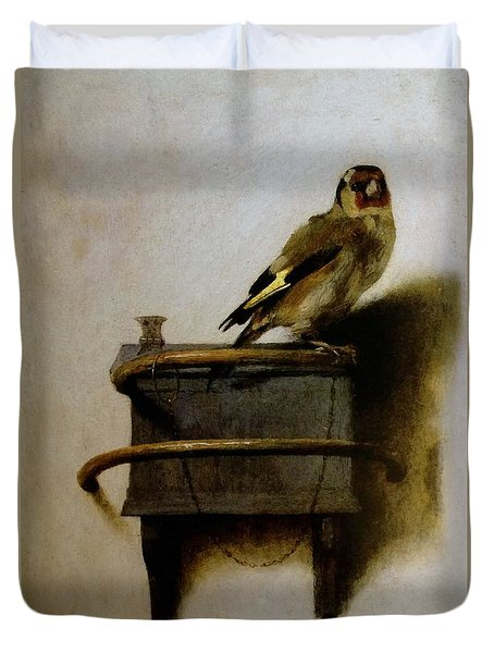 The Goldfinch Duvet Cover by Carel Fabritius