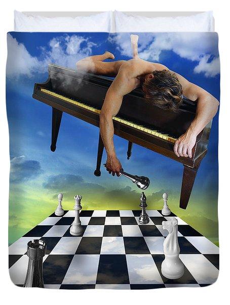The Piano Duvet Cover by Mark Ashkenazi