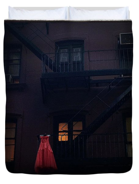 The Red Gown Duvet Cover