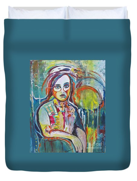 The Show Must Go On Duvet Cover by Diana Bursztein