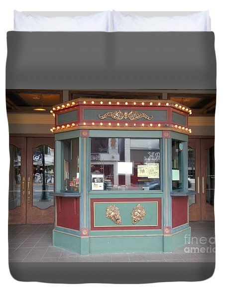 Duvet Cover featuring the photograph The Tivoli Theatre by Kelly Awad