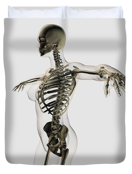 Three Dimensional View Of Female Duvet Cover by Stocktrek Images