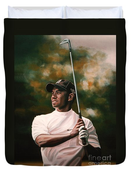 Tiger Woods  Duvet Cover by Paul Meijering