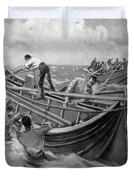 Titanic Lifeboats, 1912 Duvet Cover