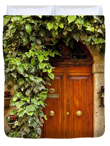 Tuscan Door Duvet Cover by Brian Jannsen