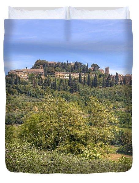 Tuscany - Montepulciano Duvet Cover by Joana Kruse