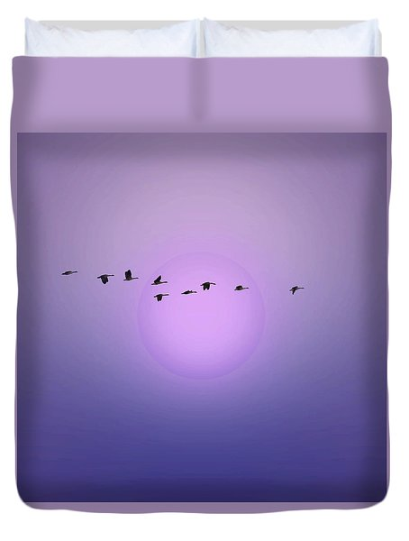 Duvet Cover featuring the photograph Twilight by I'ina Van Lawick