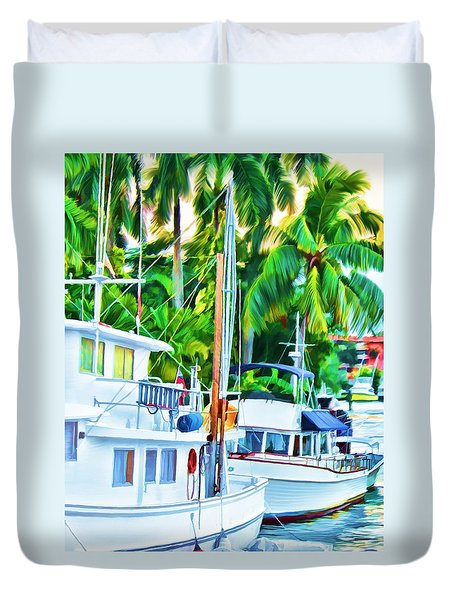 Two Boats Duvet Cover