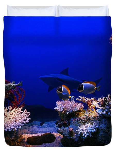Underwater Scene Duvet Cover by Michal Bednarek