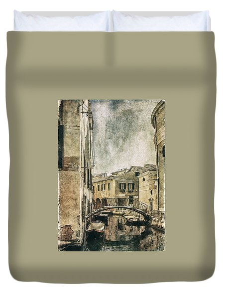 Venice Back In Time Duvet Cover