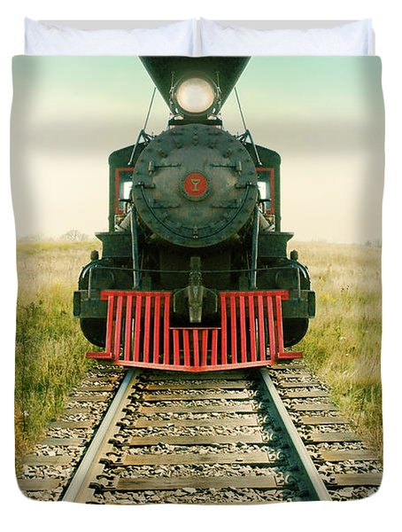 Vintage Train Engine Duvet Cover