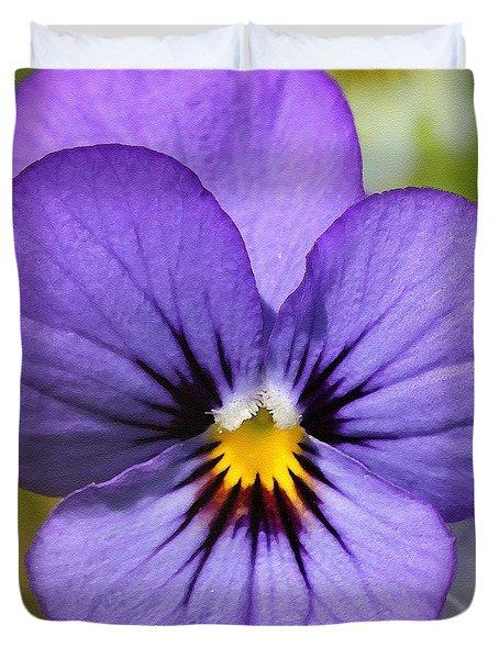 Viola Named Sorbet Blue Heaven Jump-up Duvet Cover by J McCombie