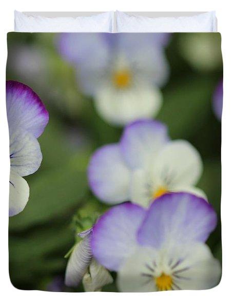 Viola Named Sorbet Lemon Blueberry Swirl Duvet Cover by J McCombie