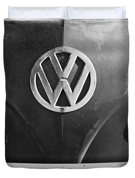 Volkswagen Vw Bus Front Emblem Duvet Cover