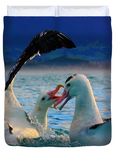 Wandering Albatross Duvet Cover by Amanda Stadther