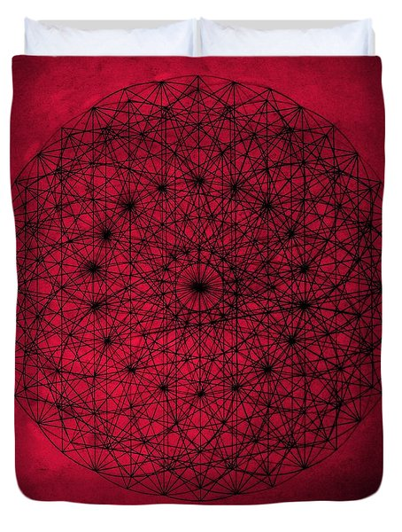 Duvet Cover featuring the drawing Wave Particle Duality by Jason Padgett