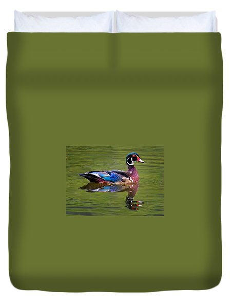Wood Duck Duvet Cover by Jean Noren