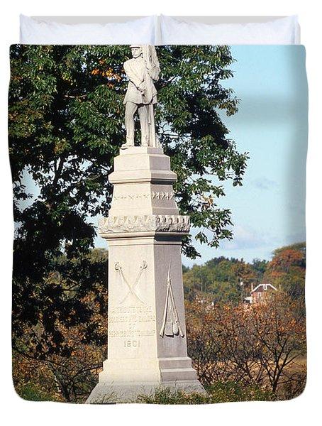 30u13 Hood Park Monument To Civil War Soldiers And Sailors Photo Duvet Cover