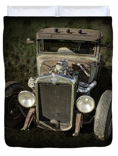 31 Chevy Rat Rod Duvet Cover