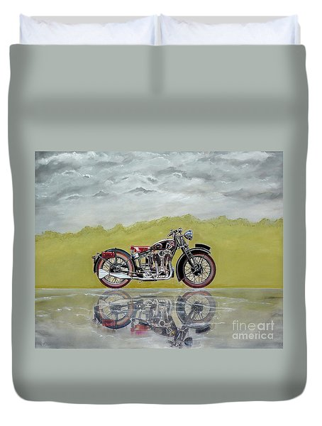 31 Matchless Silverhawk Duvet Cover by John Lyes