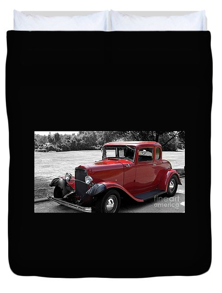 32 Ford Coupe Charmer Duvet Cover