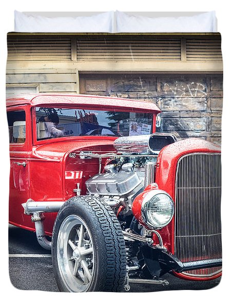 '32 Ford Coupe Souped Duvet Cover