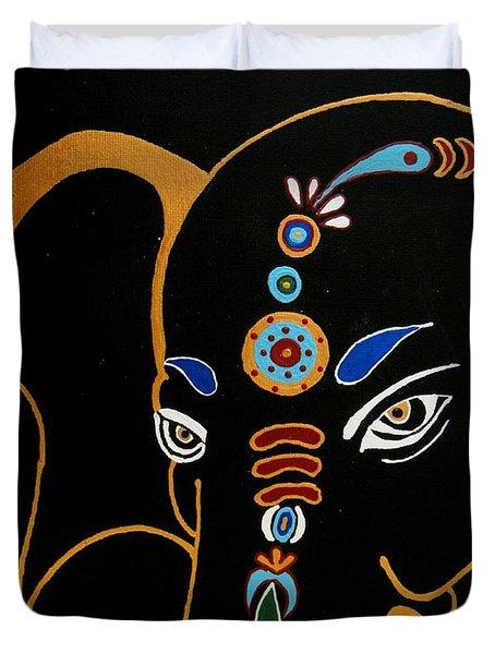 32 Gajakarna Ganesh Duvet Cover