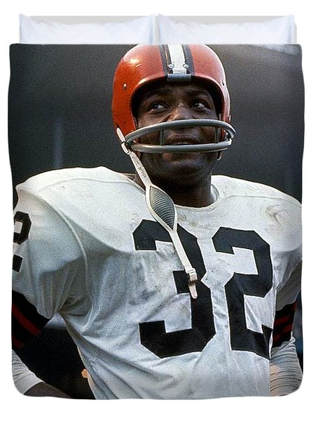 #32 Jim Brown Duvet Cover