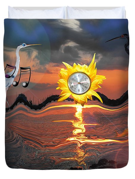 Duvet Cover featuring the photograph 320 Twisted by Amanda Vouglas