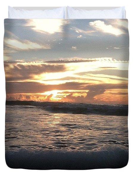 Sunrise And Ocean Duvet Cover