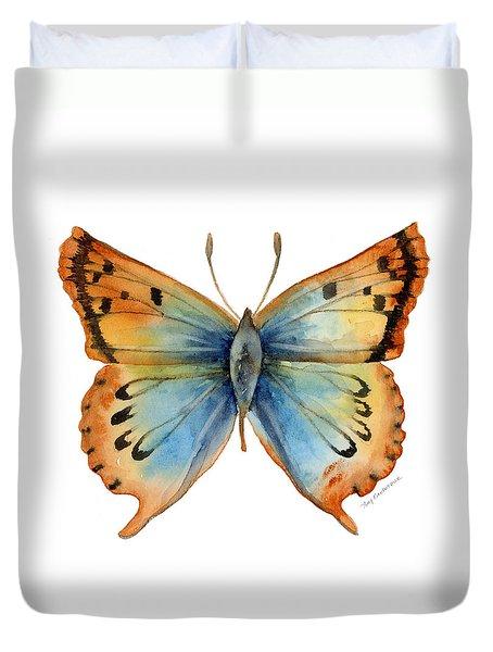 33 Opal Copper Butterfly Duvet Cover by Amy Kirkpatrick