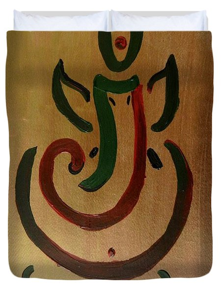 33 Rakta Ganesh Duvet Cover