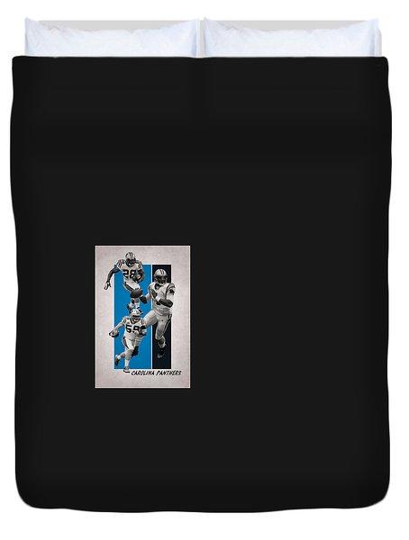 Carolina Panthers Team Flag 2 Duvet Cover