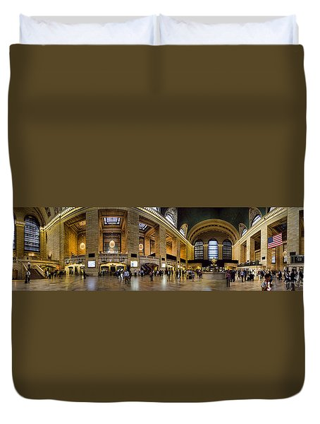 360 Panorama Of Grand Central Terminal Duvet Cover