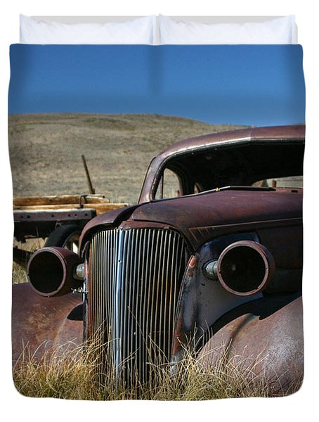 '37 Chevy In Bodie Duvet Cover
