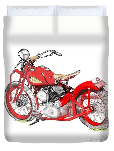 37 Chief Bobber Duvet Cover by Terry Frederick