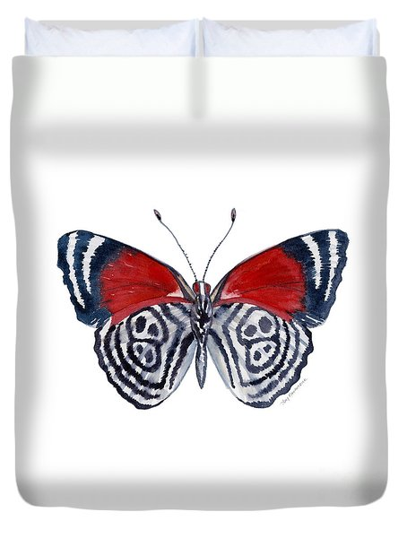37 Diathria Clymena Butterfly Duvet Cover