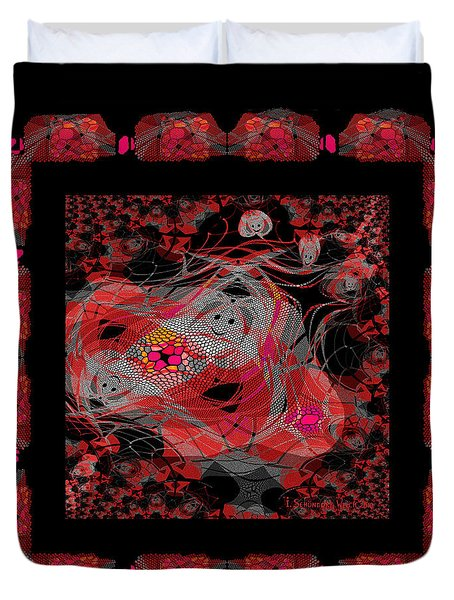 376 - Hectic Chaos  Throw Pillow Duvet Cover by Irmgard Schoendorf Welch