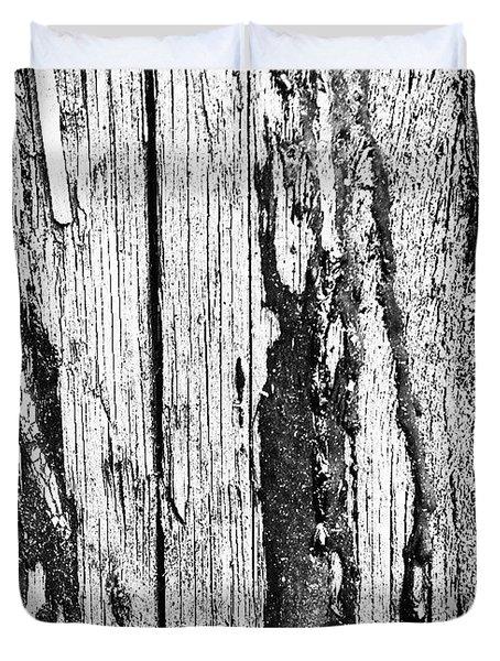 Wooden Post B 'n' W 2 Duvet Cover by Jason Michael Roust