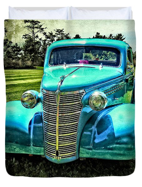 Duvet Cover featuring the photograph 38 Chevy Coupe by Thom Zehrfeld